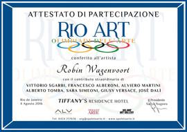 Rio Art Certificate of participation