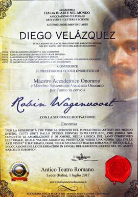 Certificate Diego Velazquez