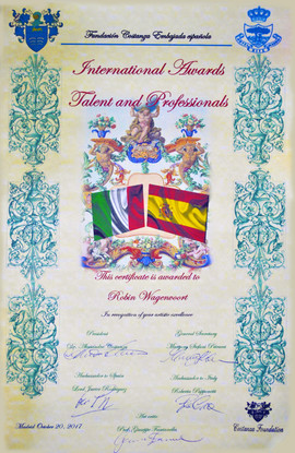 Certificate International Awards