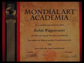 Certificate Chevalier Academicien