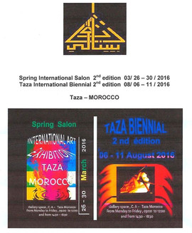 Exhibition Taza Biennial Second Edition Taza Morocco