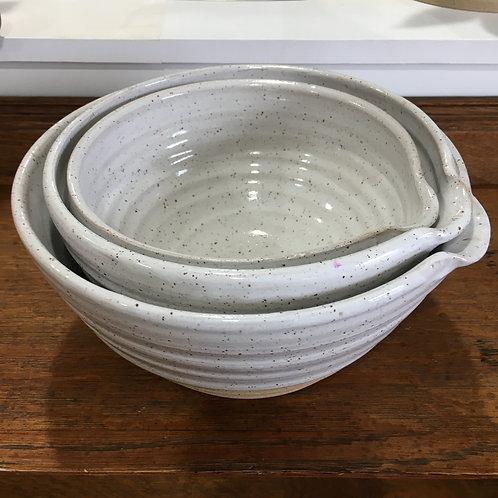 "Nesting Pouring Bowl Set 9"" 8"" 7"""