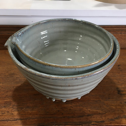 "Nesting Bowl Set with Drips 8"" 7"""