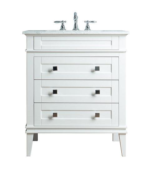 """Corinne 36"""" White Single Sink Vanity"""