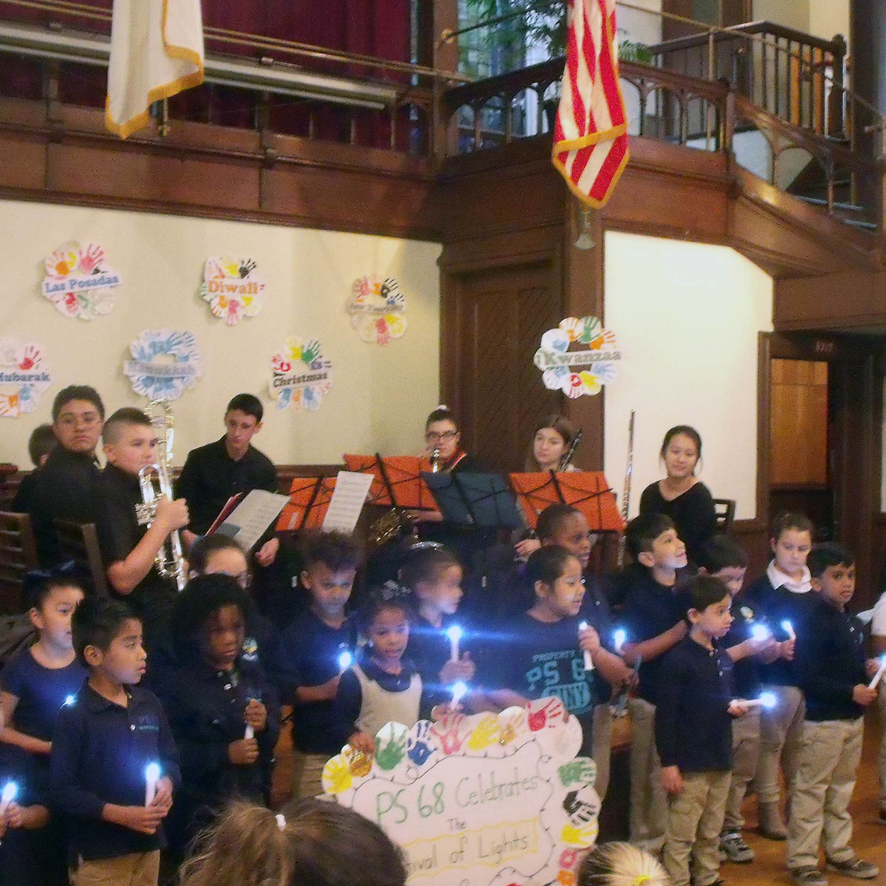 PS 68 Choir and IS 51 Band