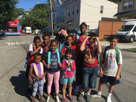 BackPack Giveaway a Bouncing Success