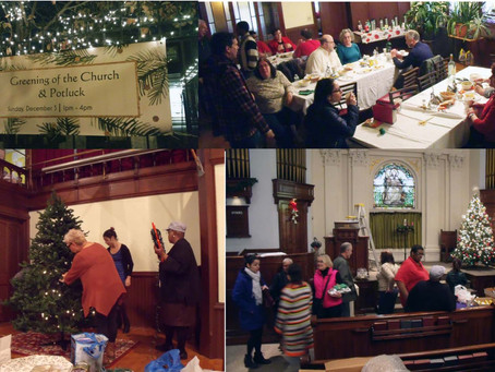 Greening of the Church and Potluck