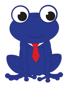 Freeda's Husband Samson the Frog looking professional