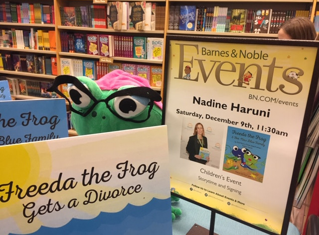 Freeda listening to her book reading