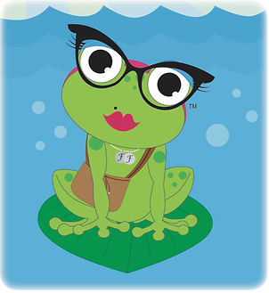 Freeda the Frog at home on the water.