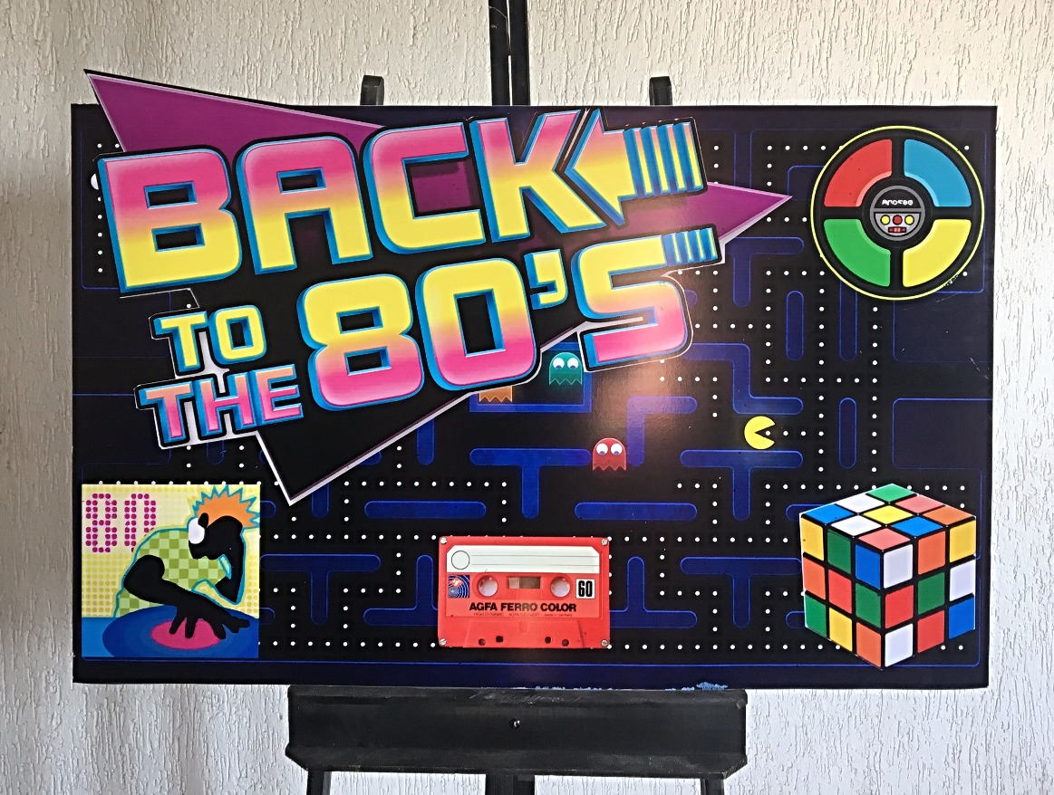 Placa Back to the 80s