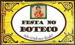 """Placa """"Festa no Boteco"""""""