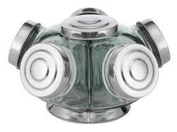Baleiro Giratório de vidro