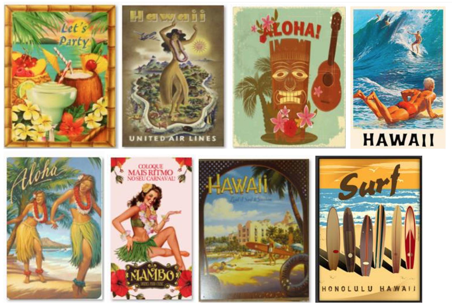 Posteres Hawaii