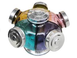 Baleiro Giratório de vidro color