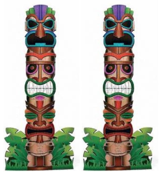 Totens Tiki Hawai