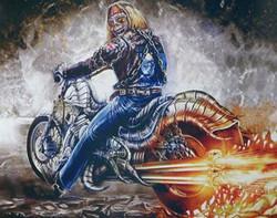 Display Moto Iron Maiden