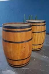Barril de madeira 200L – altura de b