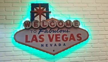 "Placa ""Welcome Las Vegas"""
