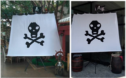 Mastro com Vela Pirata