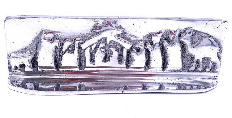 recycled aluminum nativity