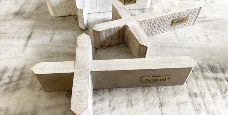 tabletop wood cross