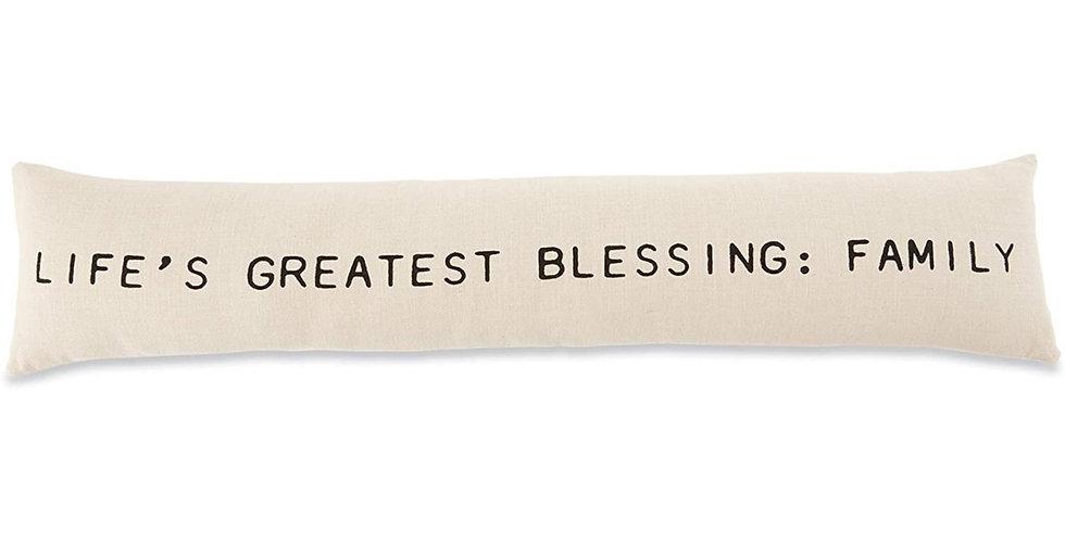life's greatest blessings: family pillow