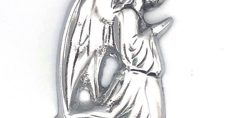 recycled aluminum praying angel