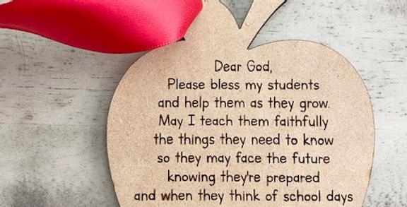 teacher prayer charm