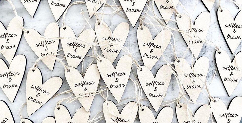 selfless and brave heart charm