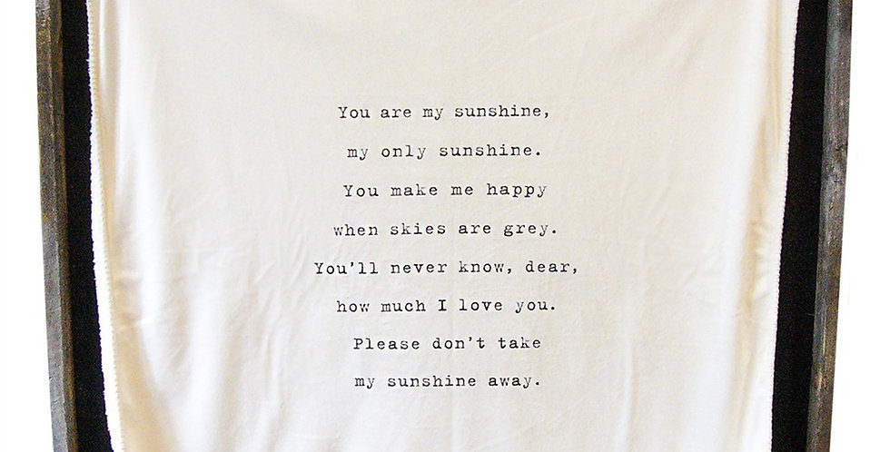 you are my sunshine - baby blanket
