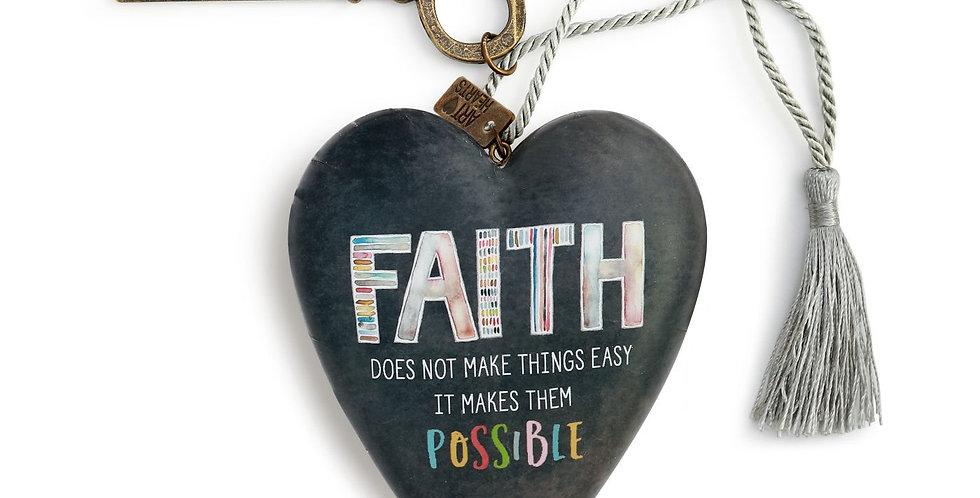 faith art heart sculpture