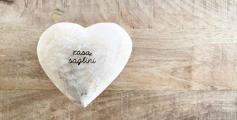 weathered gray wood heart