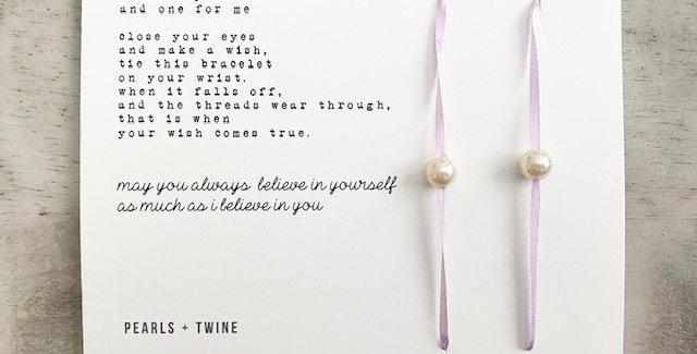 I believe in you wish bracelet set