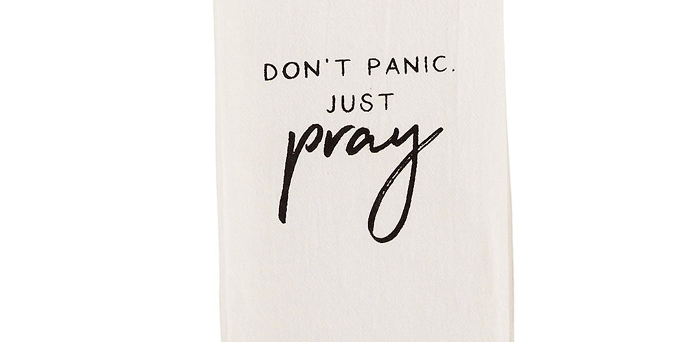 don't panic just pray towel