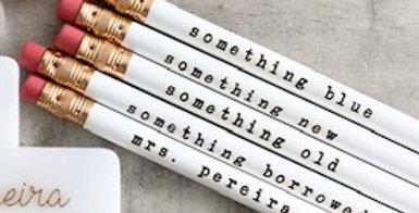 bride wedding pencils