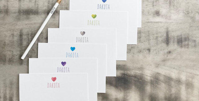 heart stationary set with pencil