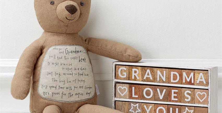 grandma poem plush bear