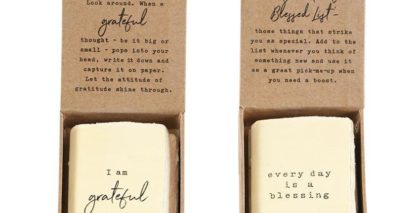 gratitude boxed journals