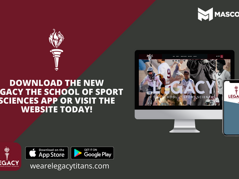 LEGACY ATHLETICS LAUNCHES NEW WEBSITE AND APP