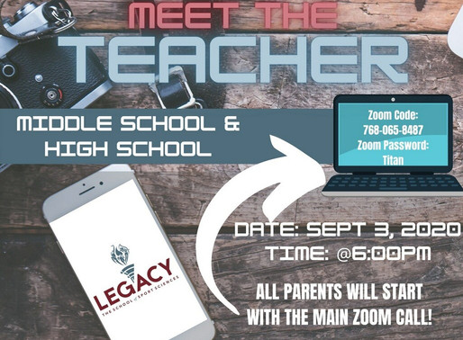 Virtual Meet the Teacher Tonight