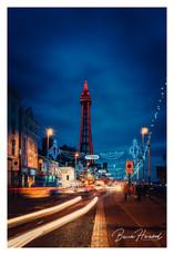 Blackpool Tower at night