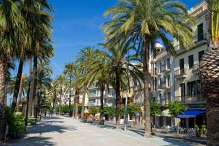 Promenade in Sitges, Spain