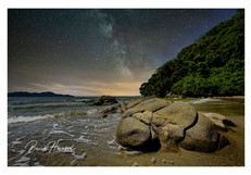 The Milky Way over a beach on Borneo