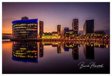 Sunset over Media City, Salford Quays