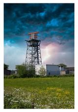 Lightning strike on Radar Tower