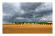 Storm clouds over St Anne's Pier, Lancashire