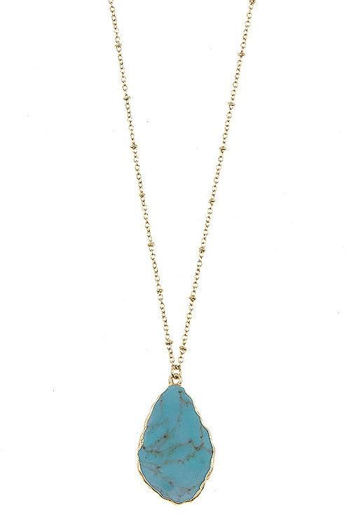 Melody Blue Stone Necklace