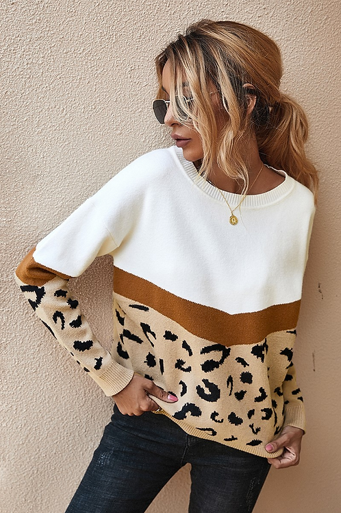 Amelia Leopard Sweater
