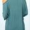 Thumbnail: 3/4 Sleeve V-neck Cold Shoulder Knit Top